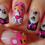 uñas-decoradas-de-la-pantera-rosa